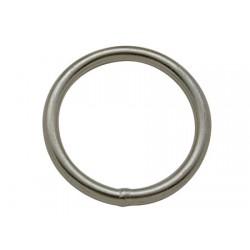 Roestvrijstalen ronde ring 6 x 60 mm