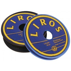 Liros Polyester Black Whipping-twine 1,5mm x 20mt